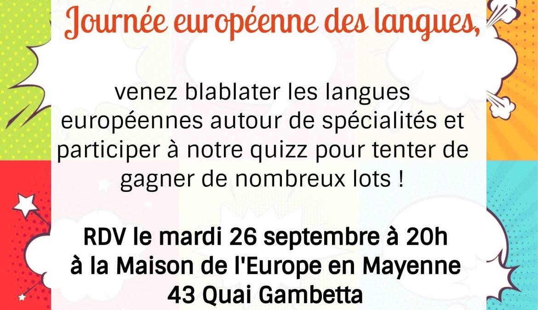 Apéro-langues 26 septembre