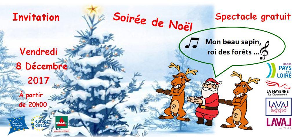 Vendredi 8 décembre : Les pays nordiques vous réchaufferont à la soirée de noël !
