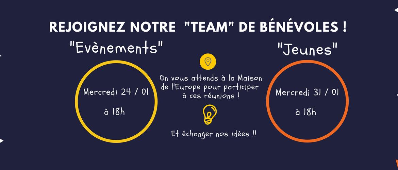 Devenez bénévole à la Maison de l'Europe en Mayenne