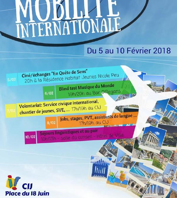 Du 05 au 10 février: Semaine de la mobilité internationale