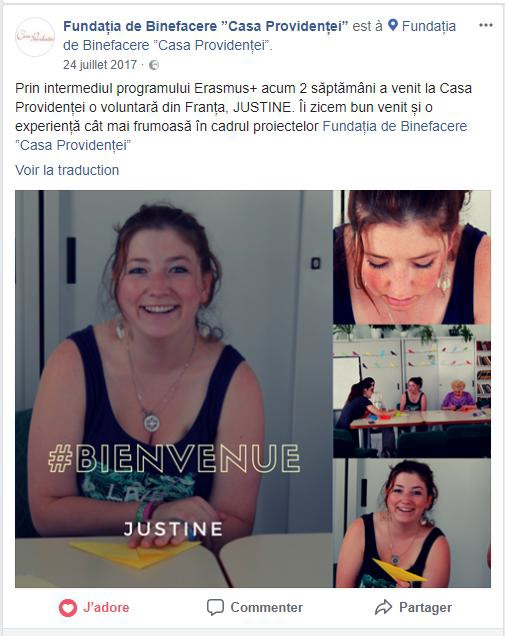 Justine, SVE en Moldavie pendant 11 mois