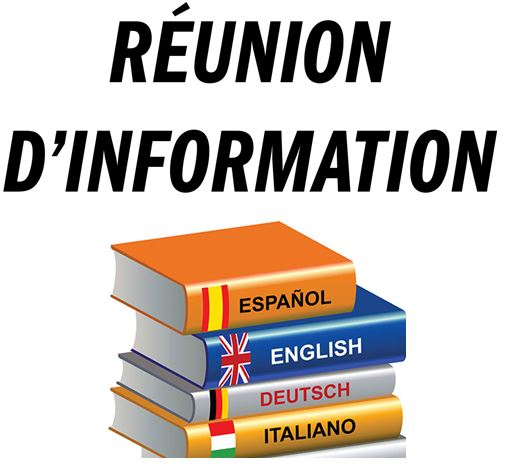 Réunion d'information cours de langues