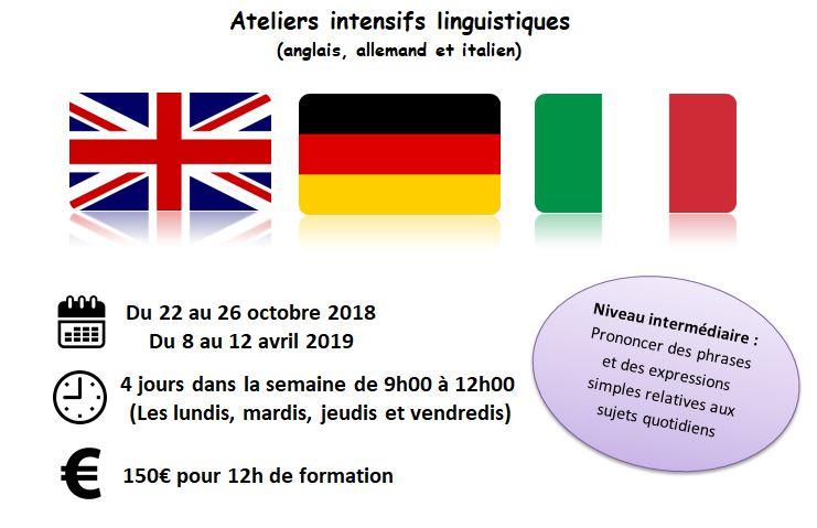 Ateliers intensifs de langues