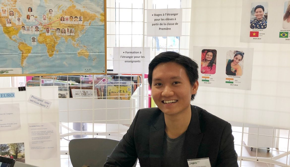 Hoang, service civique international 2018-2019 au lycée agricole de Laval