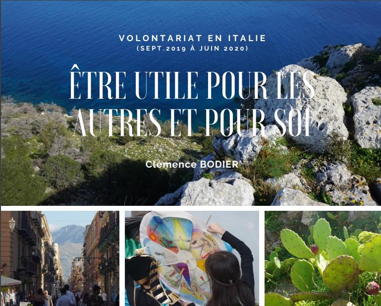 Livre témoignage de Clémence, volontaire en Sicile