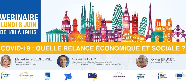 Le lundi 8 juin, participez à un webinaire consacré à la relance économique et sociale
