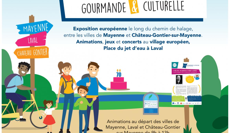 70 km de randonnée en Mayenne, 70 bougies à souffler pour l'Europe