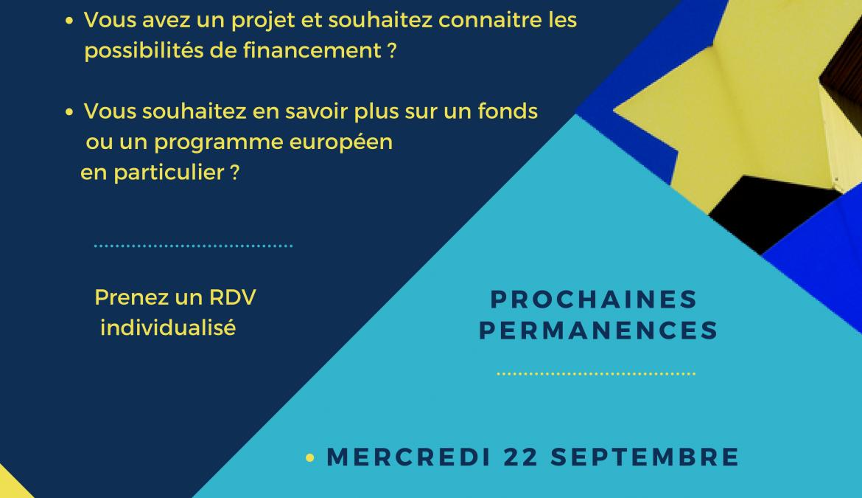 Les mercredis des fonds européens – permanence de septembre