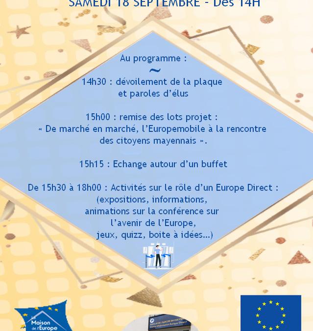 Inauguration Europe Direct