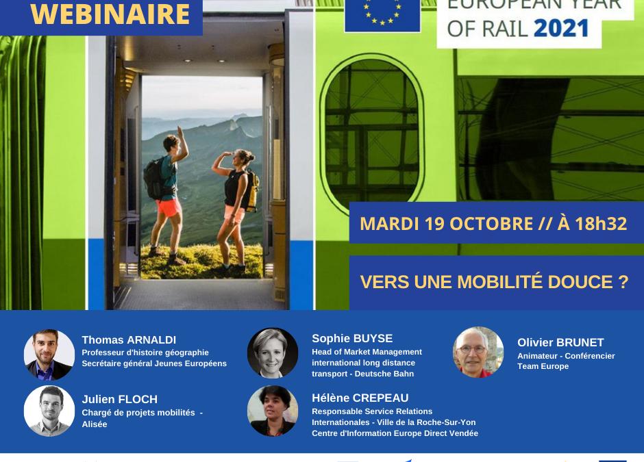 Webinaire – L'année européenne du rail : vers une mobilité douce ?